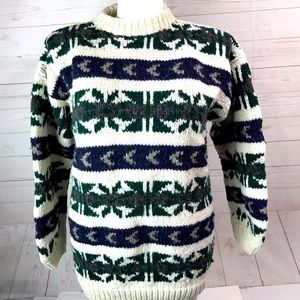 YARINA Wool Sweater Ecuador Large Handmade XL